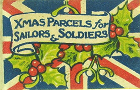 WW1 flag day for Xmas parcels
