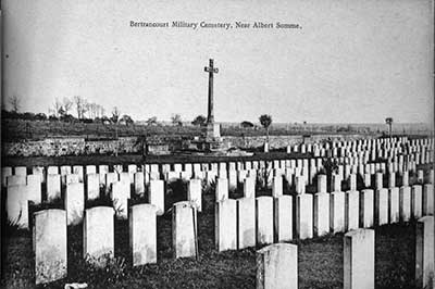 War Graves postcard WW1
