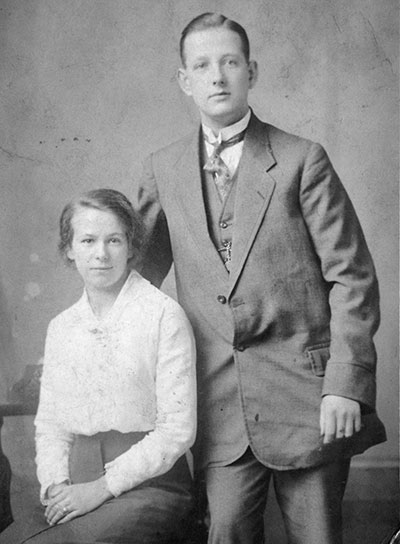 George Allwood and his wife  Lily May