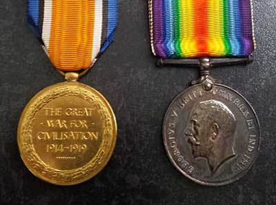 ww1 medals for Harry Bates