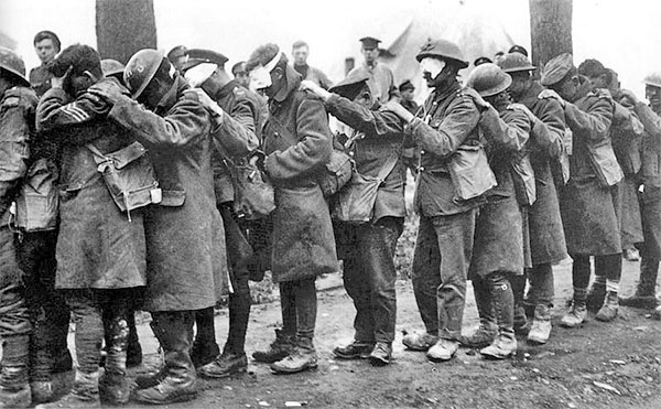 Blinded troops in WW1