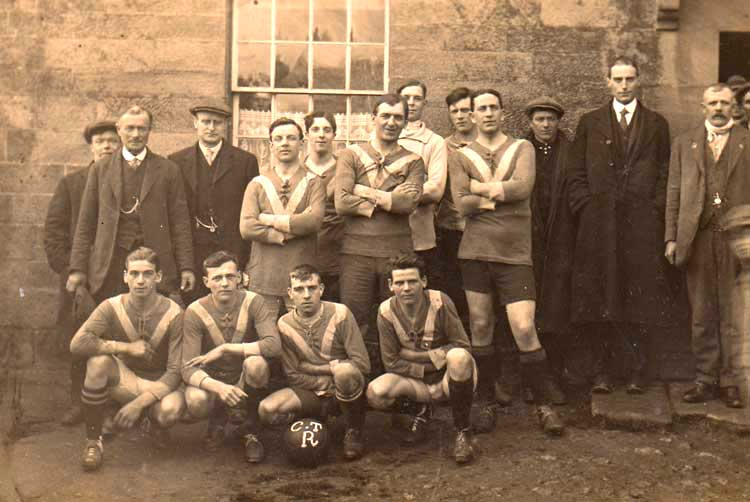 Vernon Bowmer with Crich Football Club