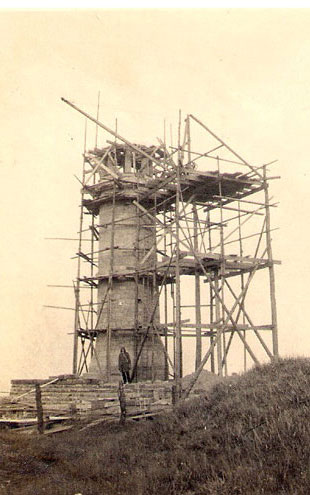 Construction of Crich Stand