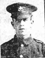 Newspaper photo of Joseph Harold England in WW1