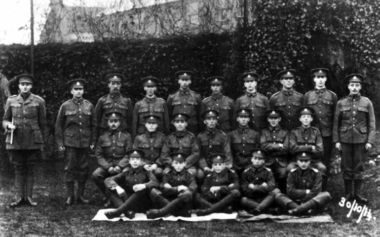 Crich recruits 1914