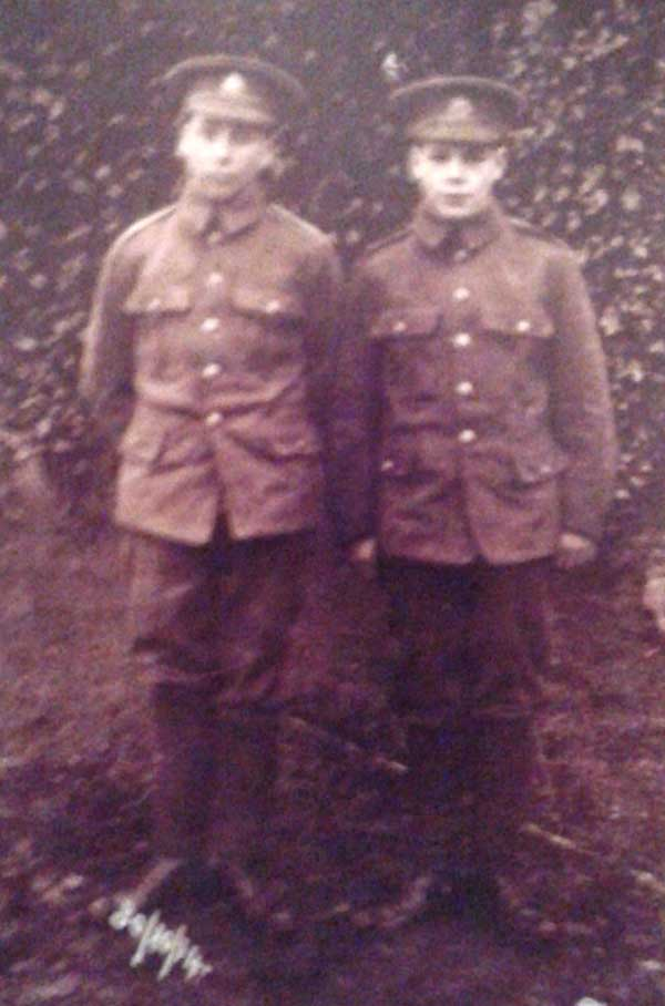 William Frost and George Wragg in WW1
