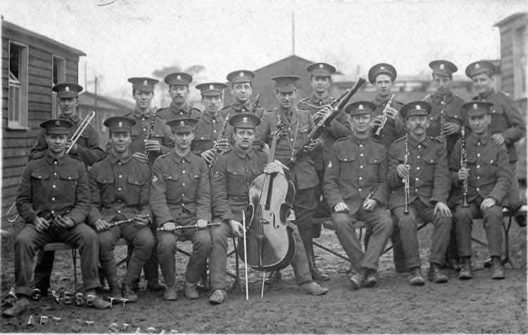 South wales Borderers Band in WW1