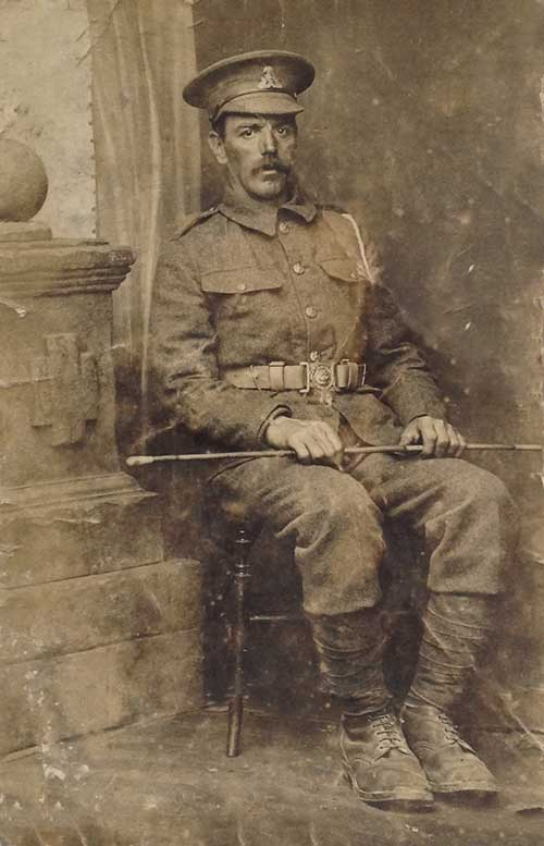 Samuel Hollingsworth in WW1 uniform