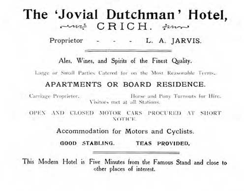 Advert for the Jovial Dutchman in Crich