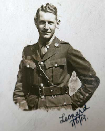 Harry Kay in Ww1