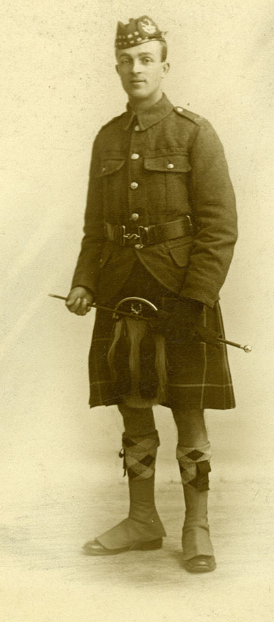John Yhomas Lynam in WW1