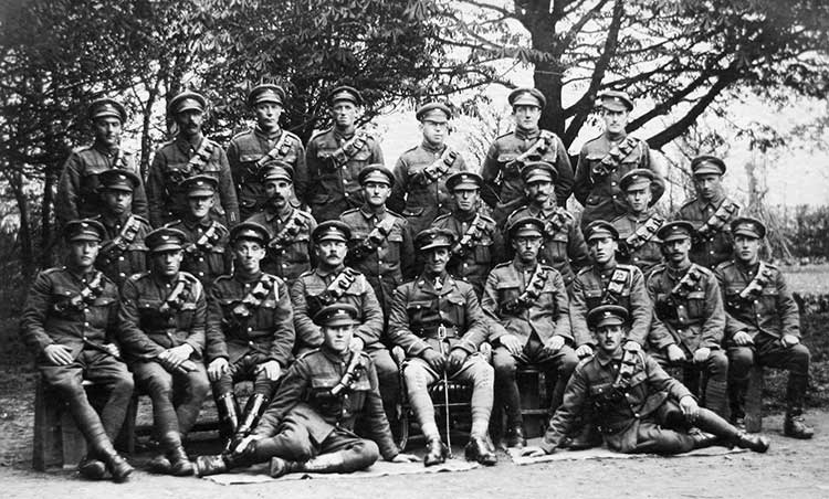 Hector McLarty with his Army Unit