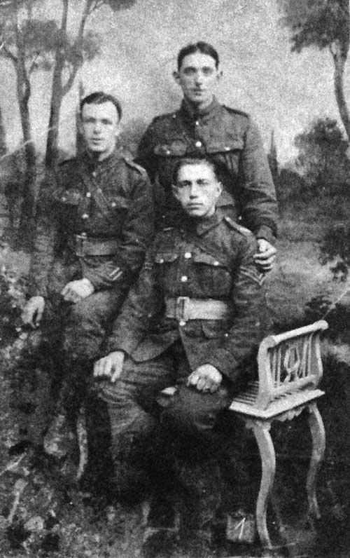 Jack Porter and two friends in WW1