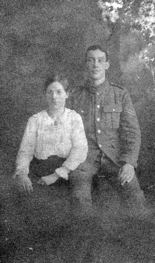 Jack Porter and his wife in WW1