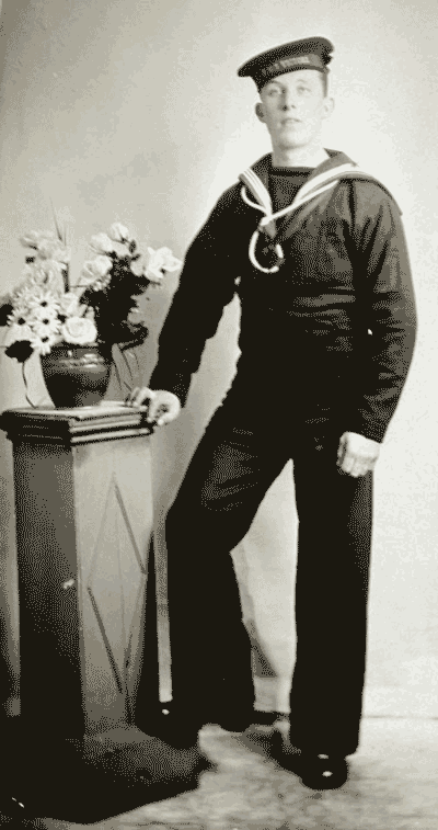 William Rowe in naval uniforn during WW1
