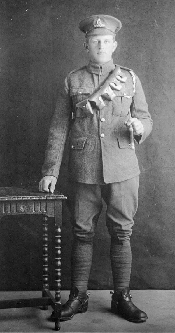 Photograph of Alfred Seals in WW1