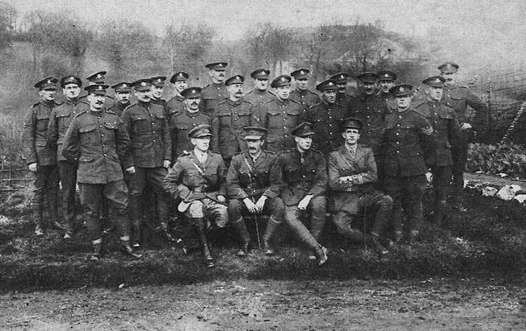 Herbert Sims with his Unit in WW1