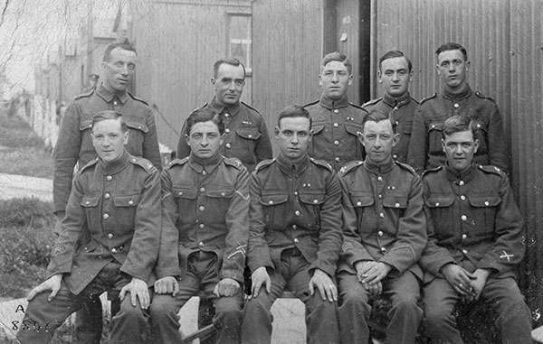 Arthur Smith and others in WW1