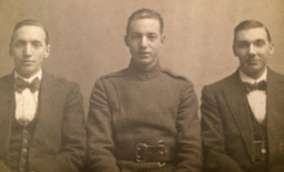 Fred Smith and brothers in WW1