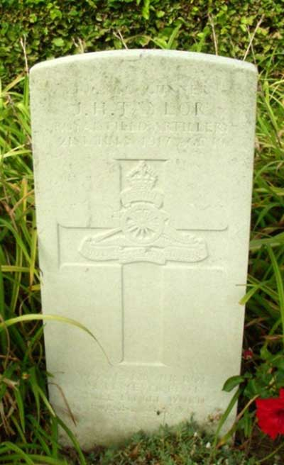 WW1 headstone for Joseph Henry Taylor