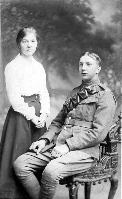 WilfridThorpe and fiancee Nellie