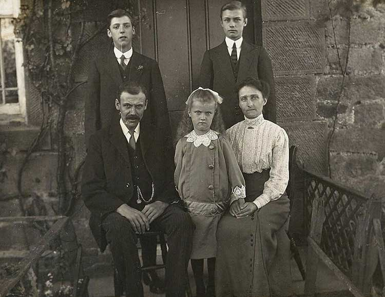 James Walters and his family