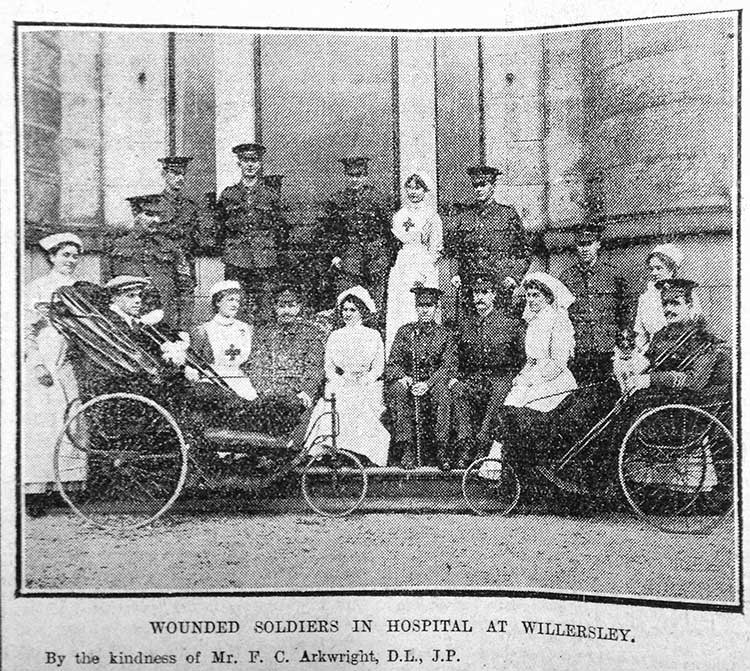 Wounded at Willersley Castle 1915